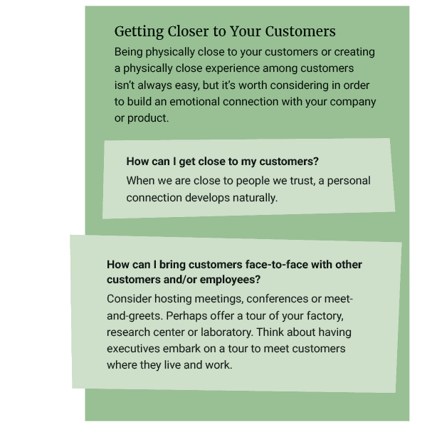 getting closer to your customers