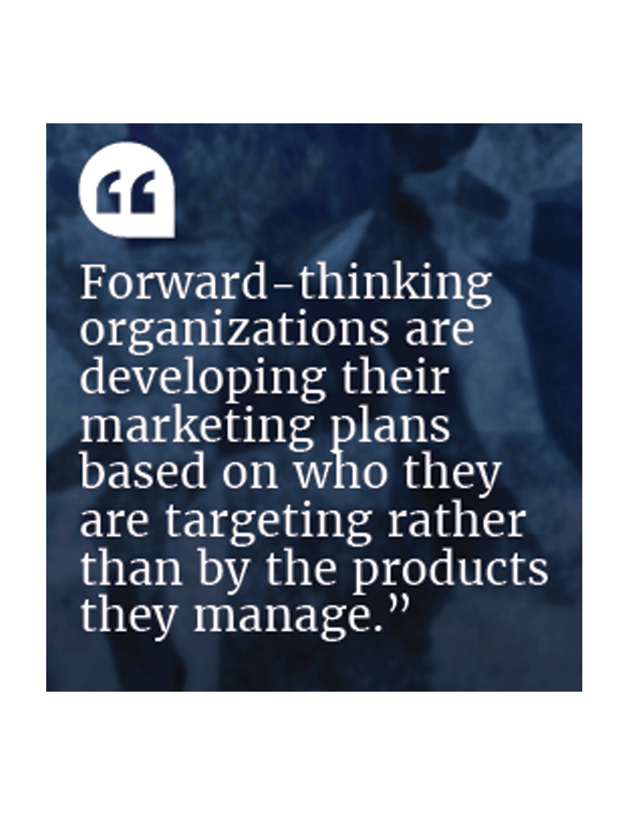 forward thinking organizations